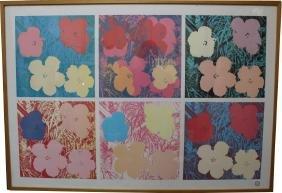 "Andy Warhol ""Flowers Litho w/ Foundation Stamp"