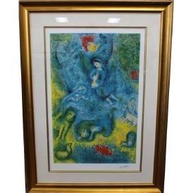 "Large Marc Chagall (1887 - 1985) ""Magic Flute"""