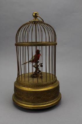 Antique French Bird Cage/Music Box