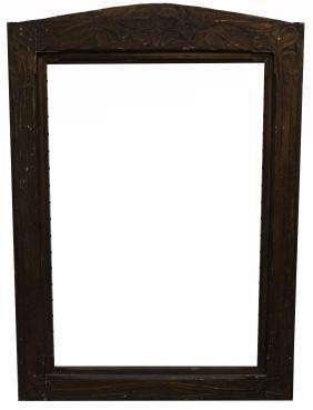 Monumental Signed Art Nouveau Carved Frame