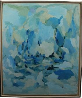 Crane, Signed 20th C. Abstract Oil/Canvas