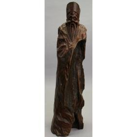 Antique Chinese Carved Scholar Figure