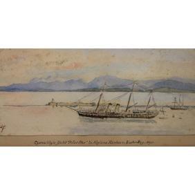 "Antique W/c of ""Polar Star"" yacht- Algiers Harbor"
