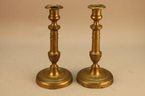 Antique French Empire Candlesticks