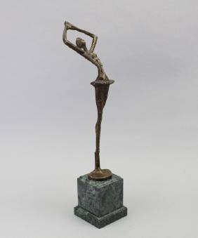 Bronze Figural Ballet Dancer Statue
