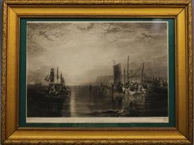 "After JMW Turner 1825 ""Sunrise"", 19th C Engraving"