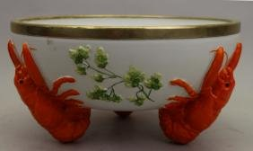 Silverplate Rim, Footed Lobster Bowl