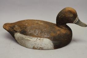 Carved/Painted Duck Decoy, Glass eyes