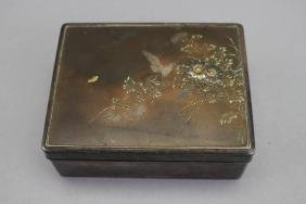 Signed Japanese Meiji Period Mixed Metal Box