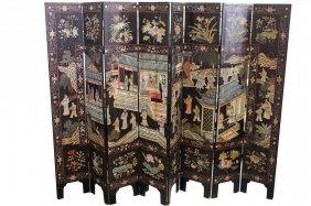 Early 19th C. Chinese Figural Coromandel Screen