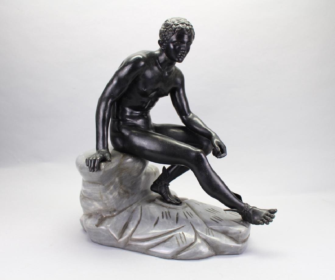 Large Bronze Seated Narcissus