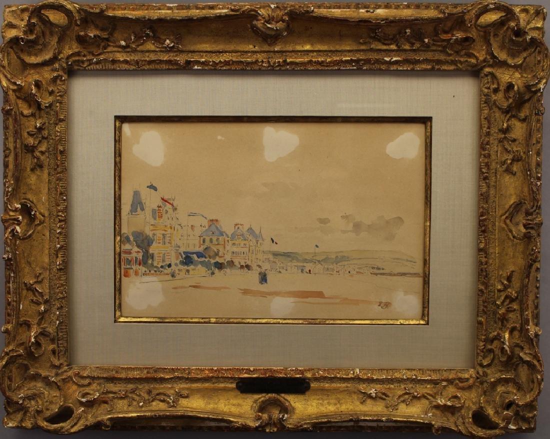 Eugene Boudin (1824 - 1898) La Plage de Trouville