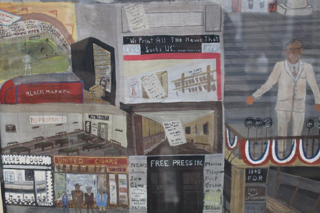 """Ralph Fasanella (1914-1997) """"Victory and After"""" - 8"""