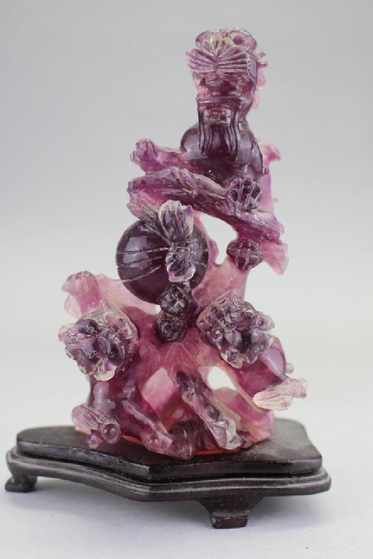 Chinese Carved Amethyst Floral Arrangement