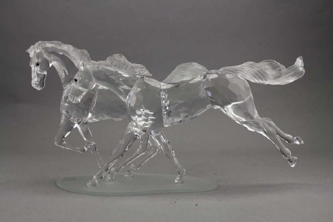 Swarovski Crystal Horses on Base