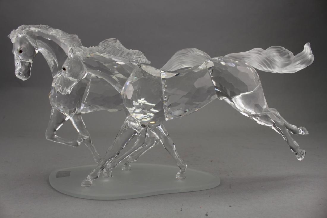 Swarovski Crystal Horses on Base - 2