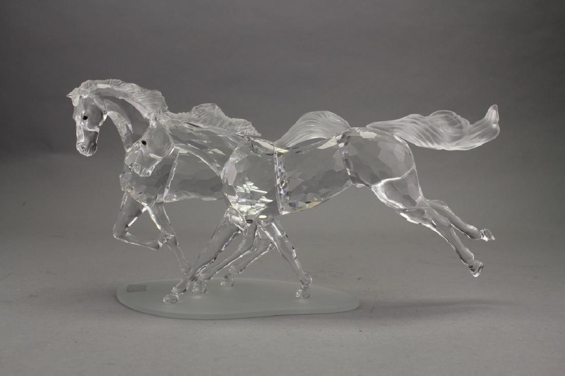 Swarovski Crystal Horses on Base - 3