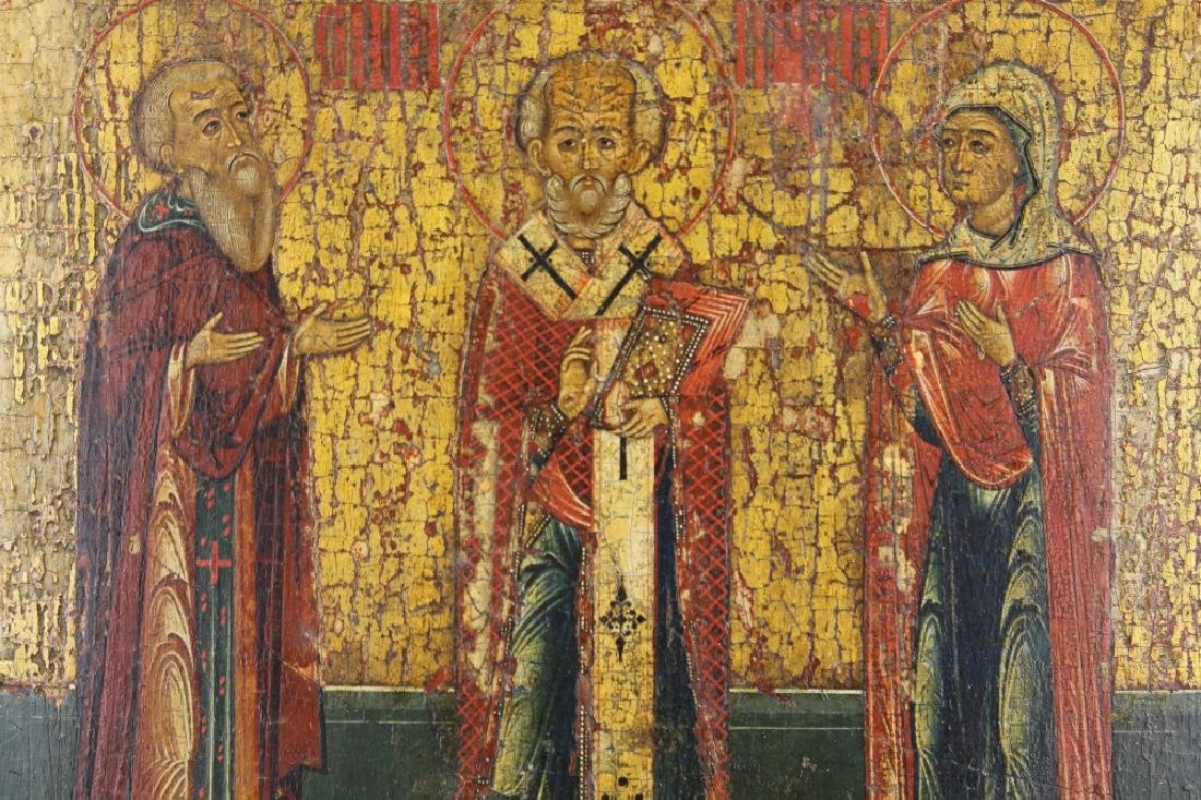 Early Antique Russian Icon - 3
