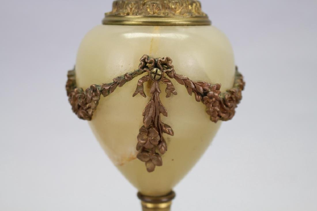 Antique French Champleve/Onyx Vase - 5