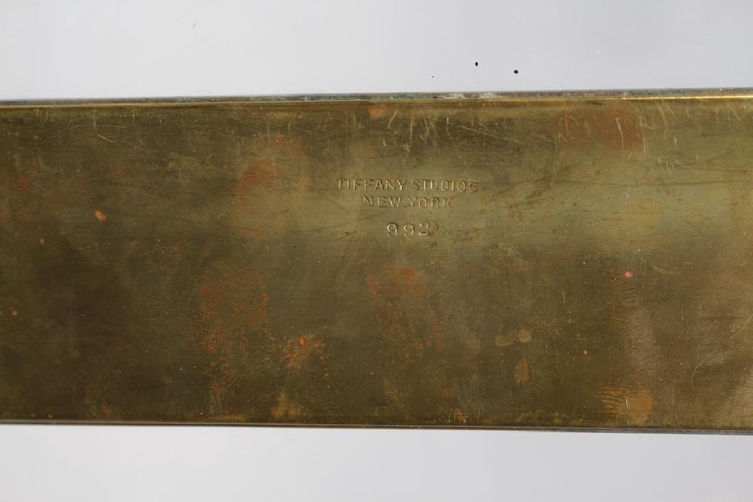 Pair, Signed Tiffany & Co. Bronze Blotters - 4