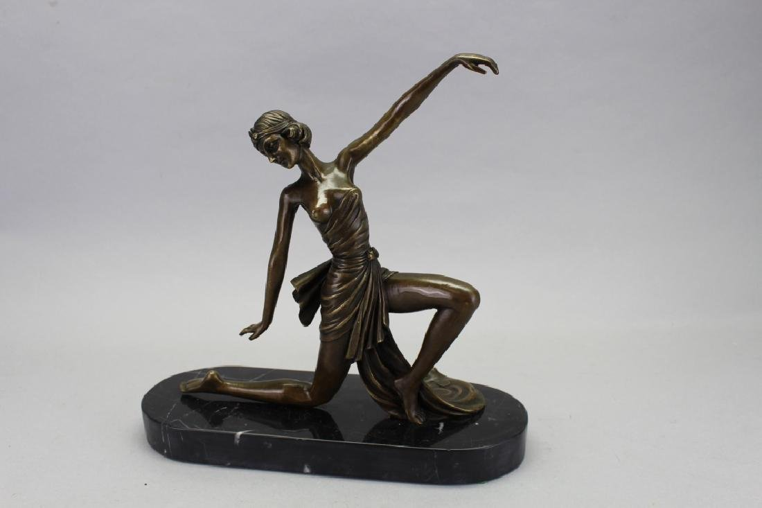 Bronze Art Deco Figure, Signed Jean Patou