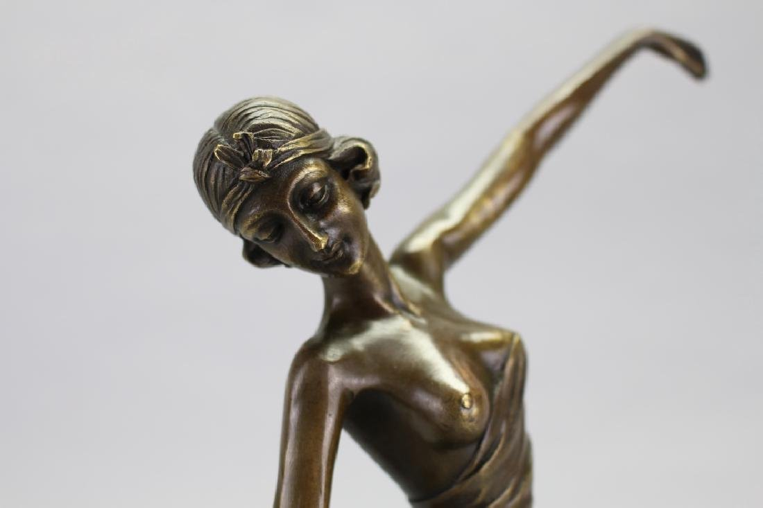 Bronze Art Deco Figure, Signed Jean Patou - 3