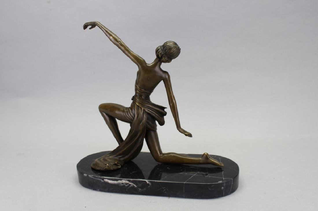 Bronze Art Deco Figure, Signed Jean Patou - 4