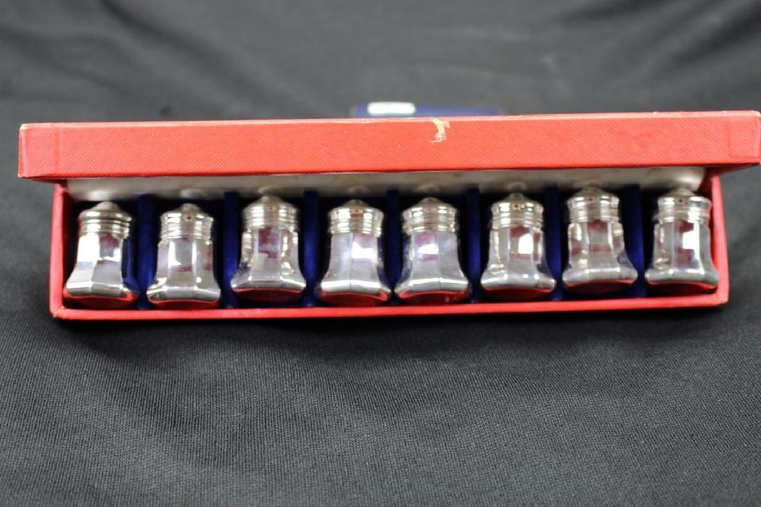 Cartier Sterling Salt / Pepper Shakers w/ Box