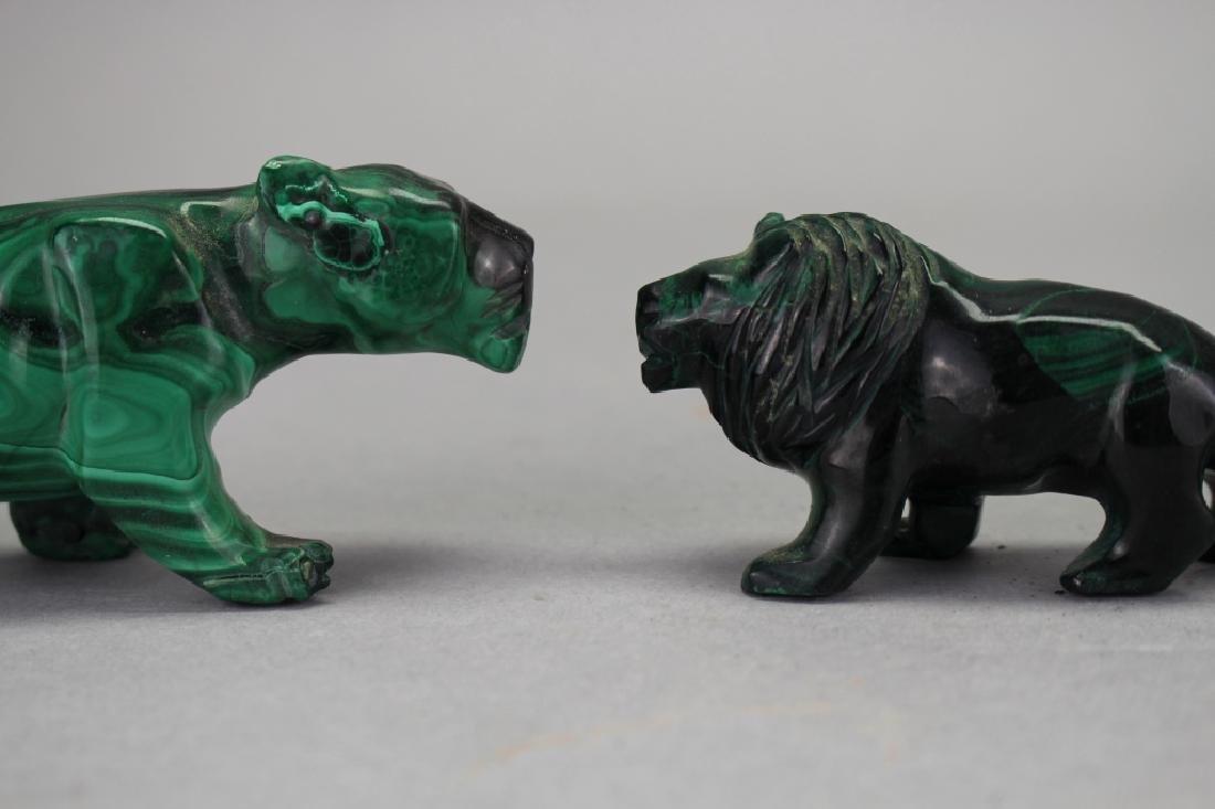 (3) Carved Malachite Animal Figures - 2
