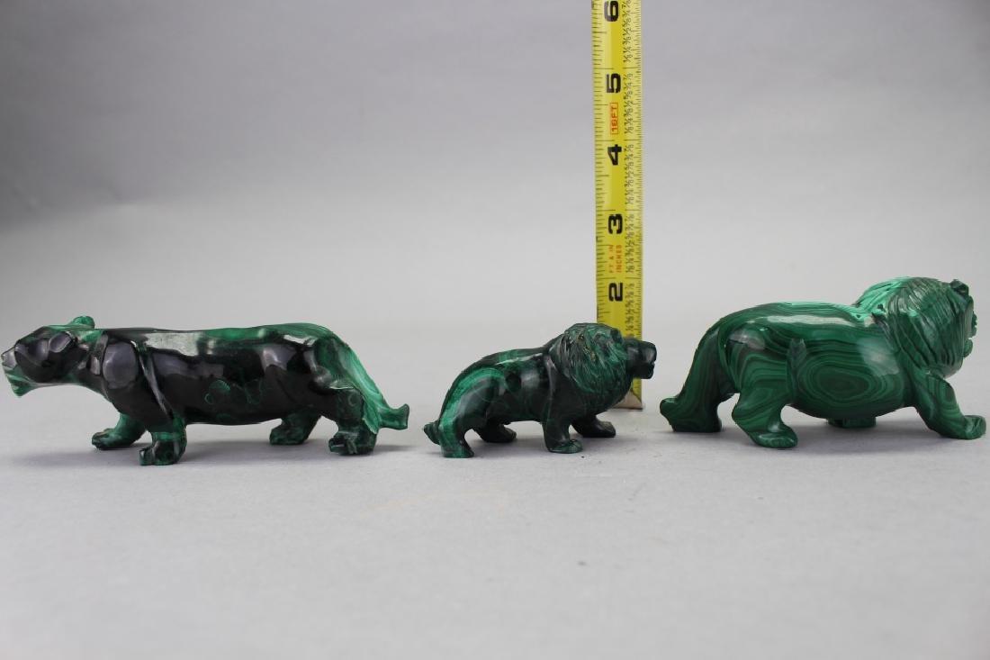 (3) Carved Malachite Animal Figures - 4