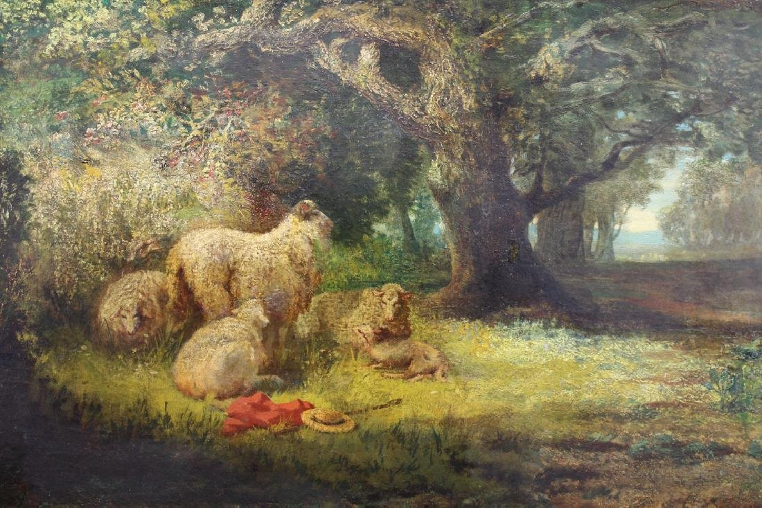 19th C. Signed P. Rossi, Sheep in Wooded Landscape - 2