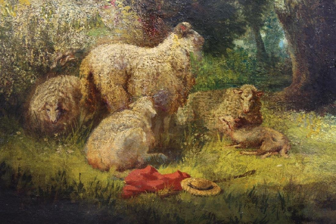 19th C. Signed P. Rossi, Sheep in Wooded Landscape - 4