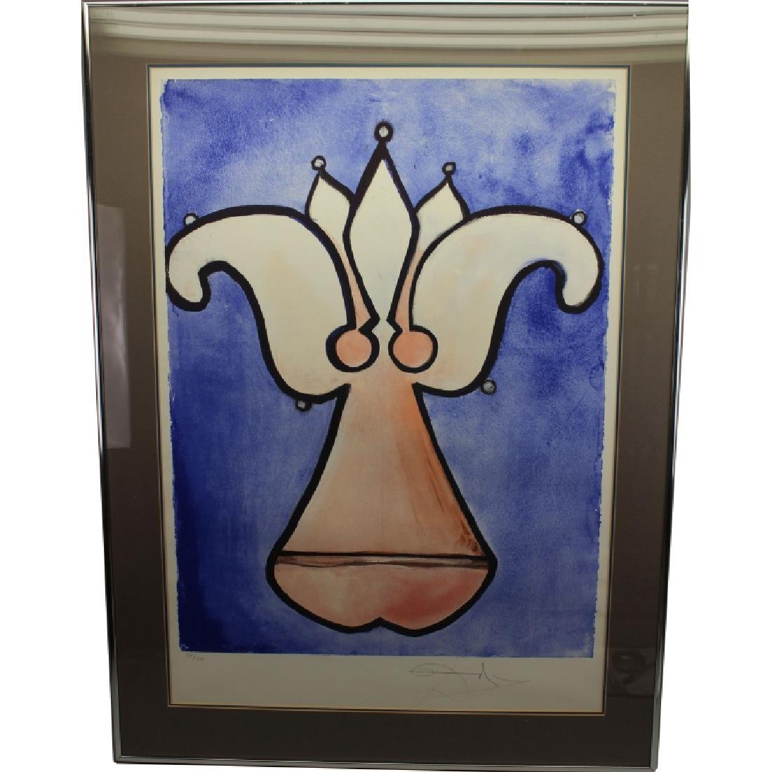 "Salvador Dali ""Fleur De Lys"" Lithograph"