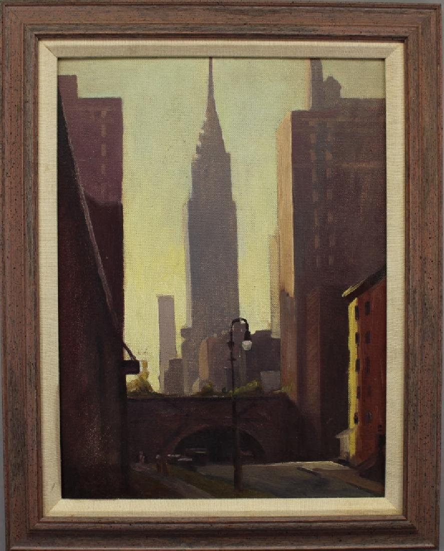 Ernest M. Olsen, Painting of Chrysler Building NYC
