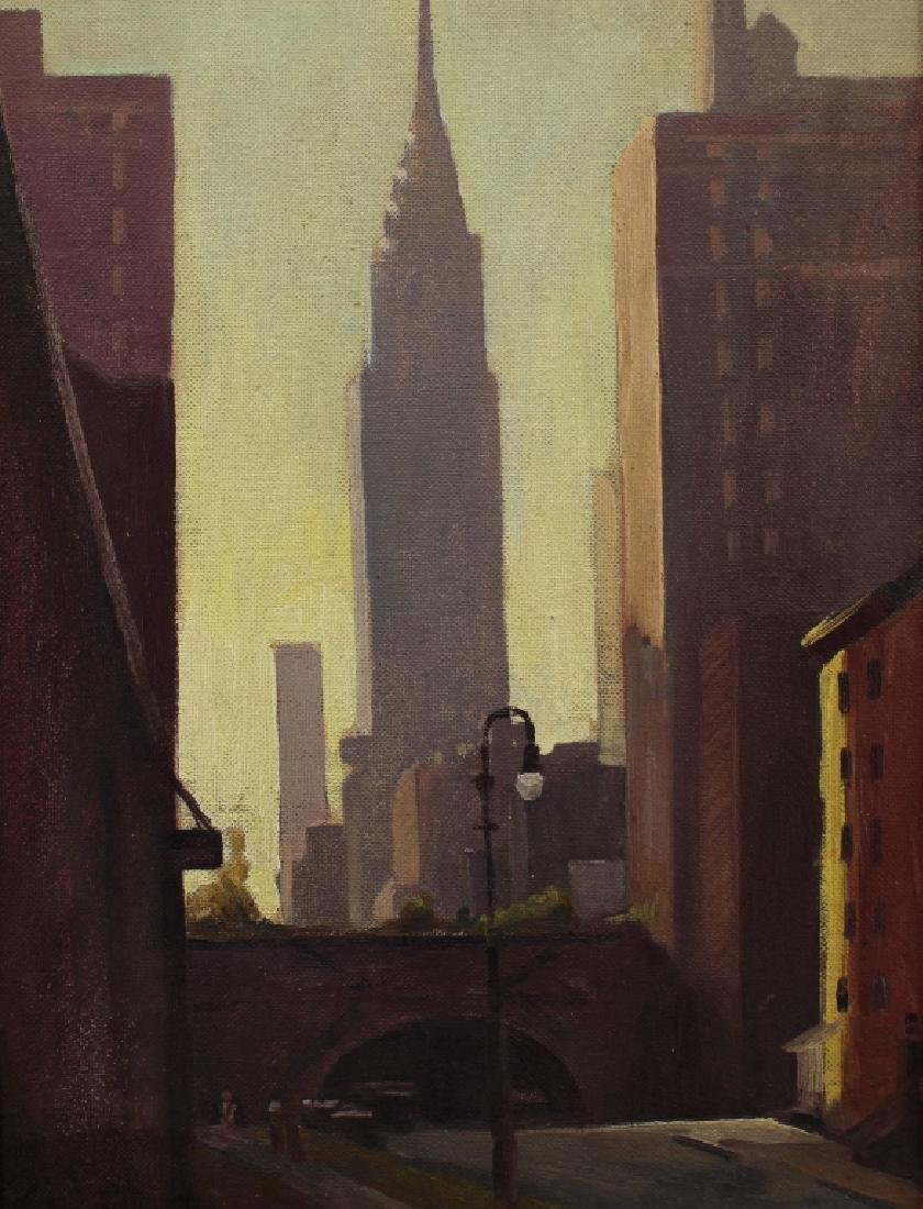 Ernest M. Olsen, Painting of Chrysler Building NYC - 2