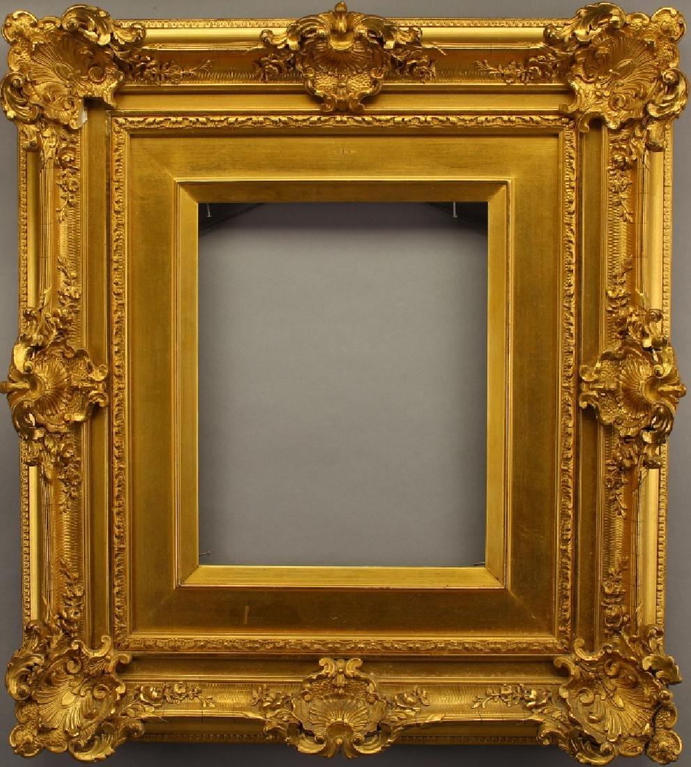 Victorian Gold Leaf Carved Frame