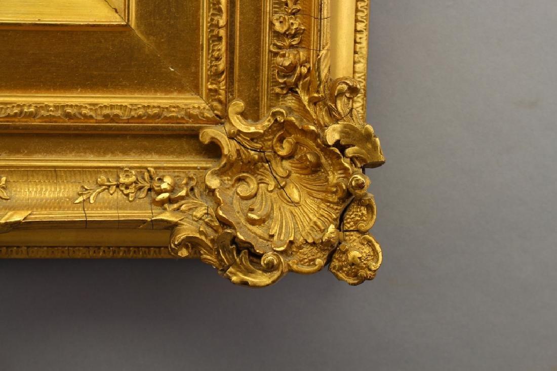 Victorian Gold Leaf Carved Frame - 2