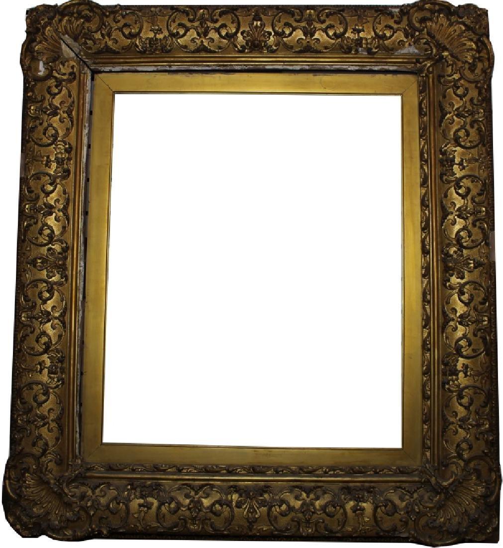 Antique Barbizon Style GIlt/Carved Frame