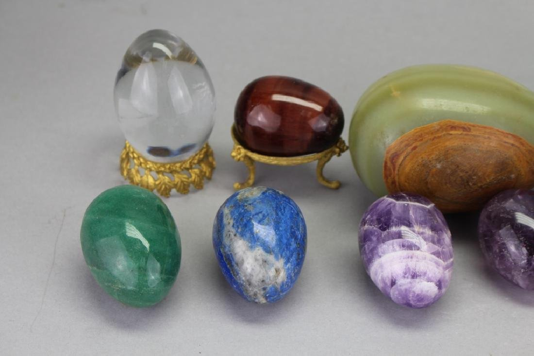 (10) Mixed Stone Carved Eggs - 4