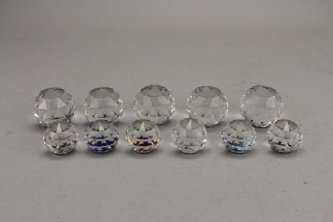 (11) Assorted Color Changing Crystal Paperweights - 2