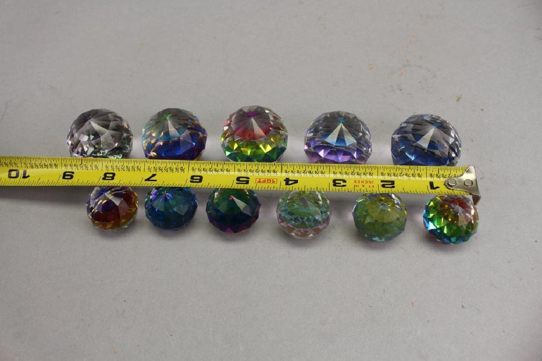 (11) Assorted Color Changing Crystal Paperweights - 3
