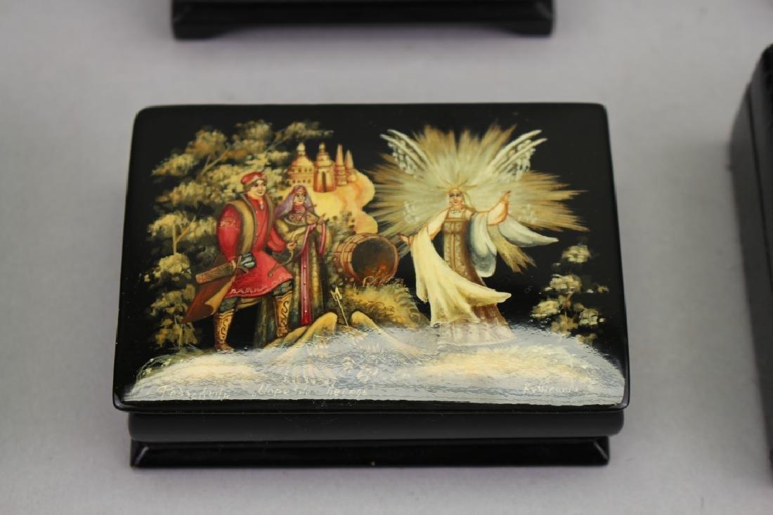 (7) Russian Lacquerware Boxes - 2