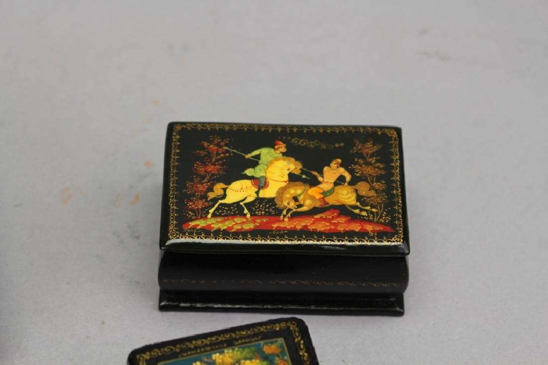 (7) Russian Lacquerware Boxes - 3