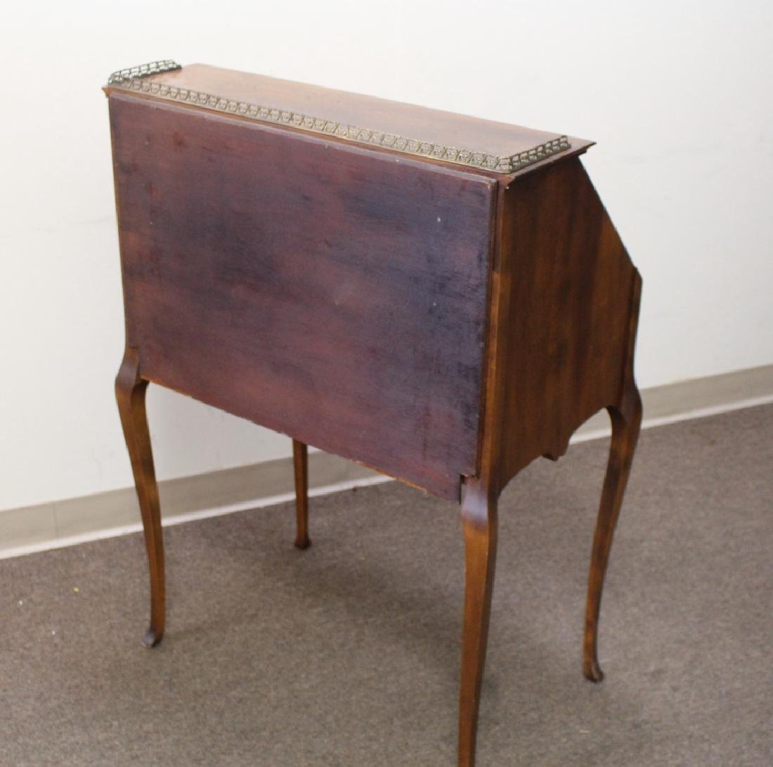 Inlaid One Drawer Drop Front Desk - 7