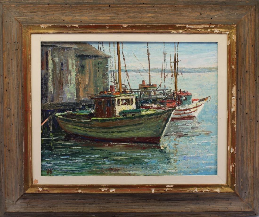 "Arthur Palmer (1913 - 1982) ""Fishing Boats"""
