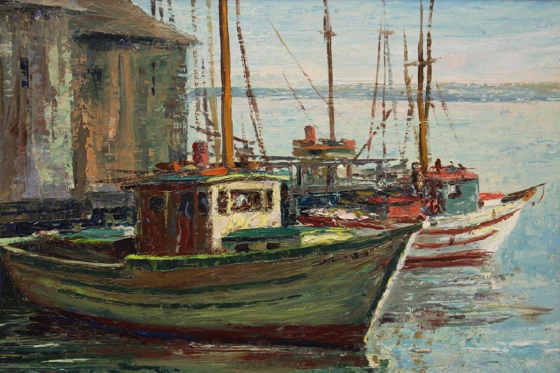 "Arthur Palmer (1913 - 1982) ""Fishing Boats"" - 2"