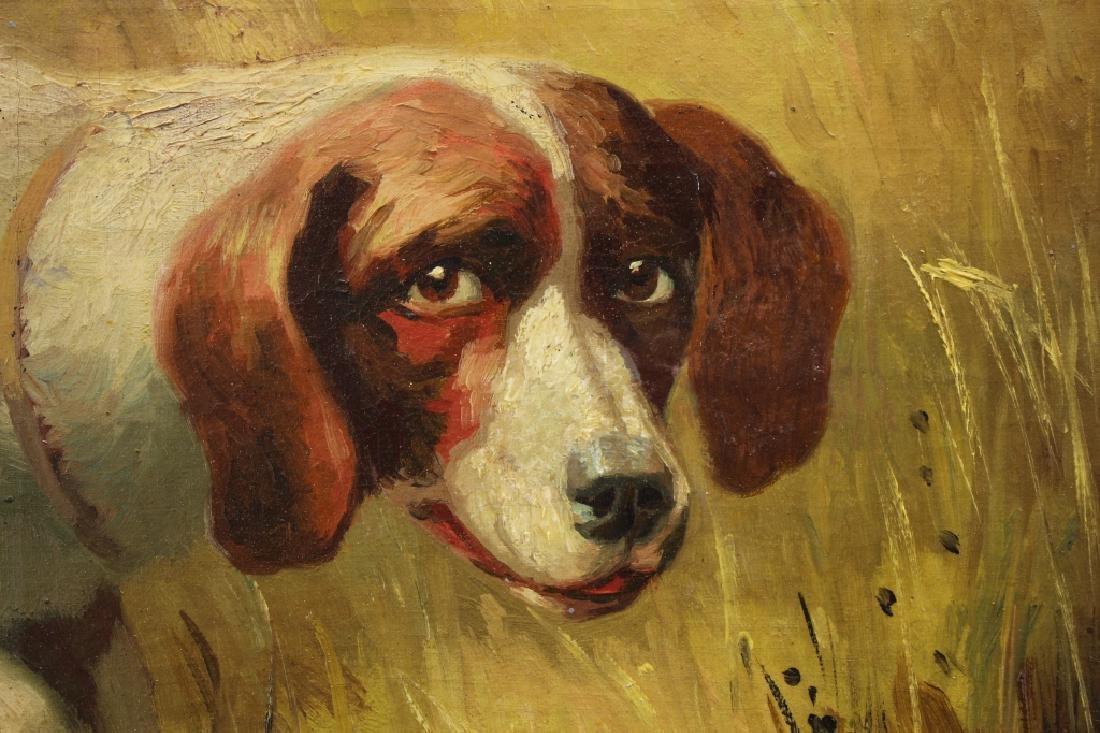 Portrait of a Hound, Bird's Eye Maple Frame - 2