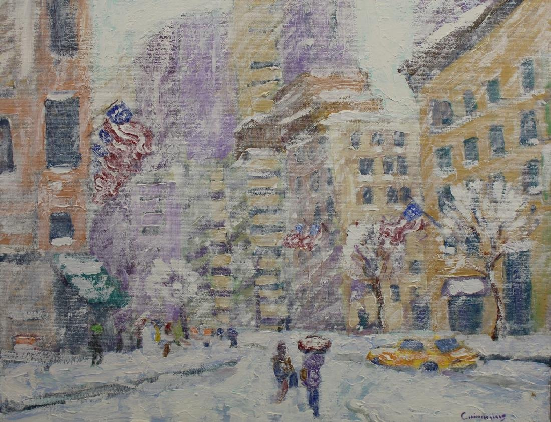 "John Crimmins (NY born 1963) ""Columbus Circle"""