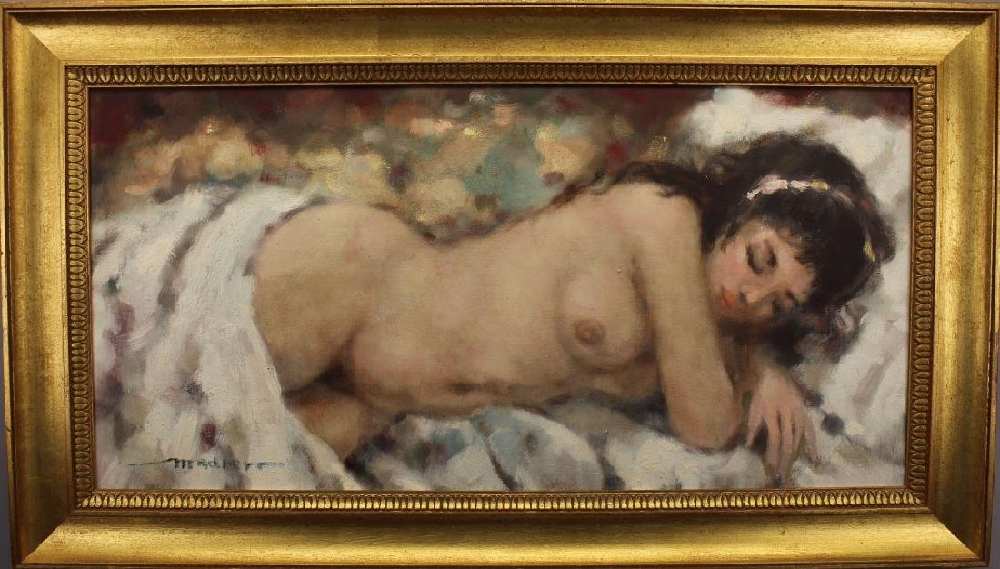 Russian School, Signed 20th C. Nude Woman
