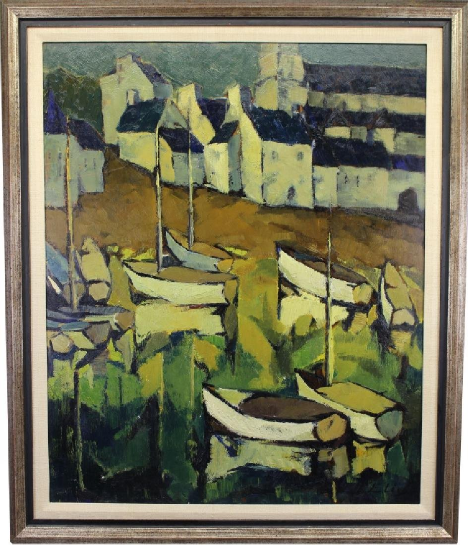 Elie, Signed Early 20th C. Harbor Scene